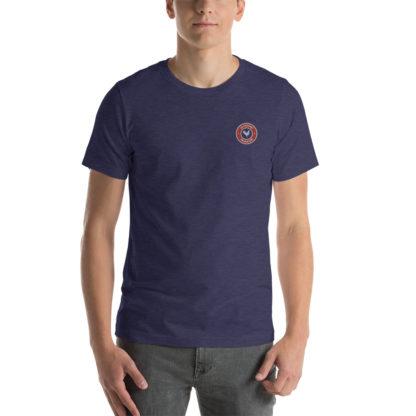 t-shirt agriculteur - le paysan français - bleu chiné