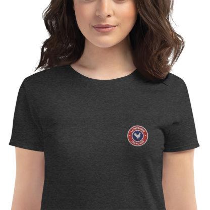 t-shirt agricultrice - la paysanne française - zoom - gris foncé