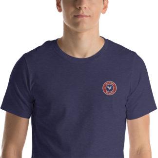 t-shirt agriculteur - le paysan français - zoom - bleu chiné