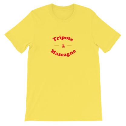 t-shirt - tripote et mascagne - sud ouest - jaune