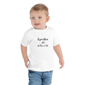 t-shirt enfant agriculteur de père en fils - garcon