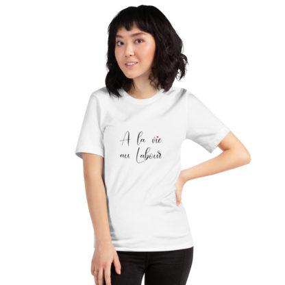 t-shirt agricole humour - a la vie au labour - femme