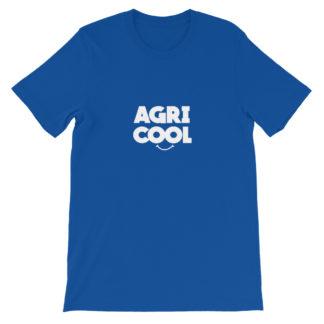 tee shirt agricool - agriculture - bleu roi