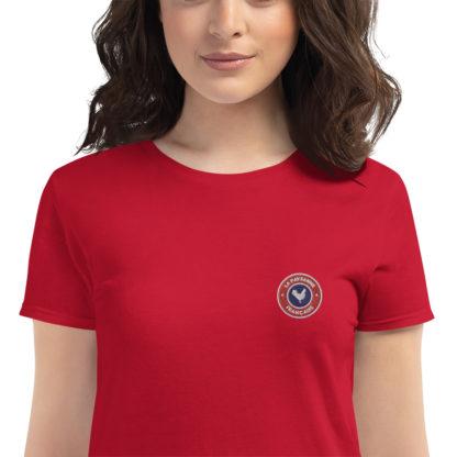 t-shirt agricultrice - la paysanne française - zoom - rouge