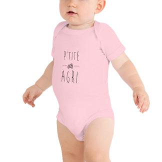 body bébé p'tite agri - rose - fille