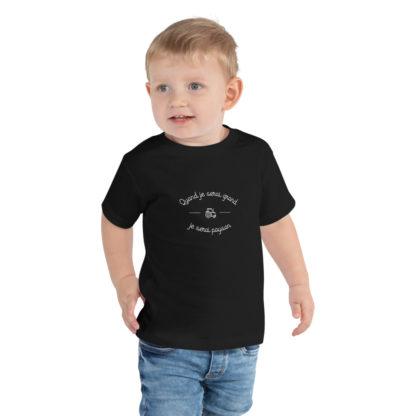 t-shirt enfant quand je serai grand je serai paysan - garçon