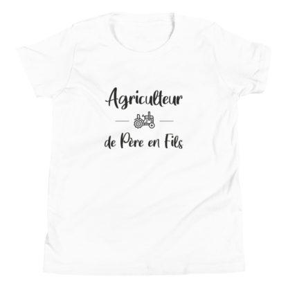 t-shirt ado agriculteur de père en fils