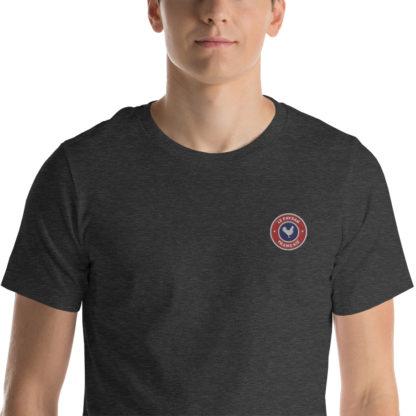 t-shirt agriculteur - le paysan français - zoom - gris foncé