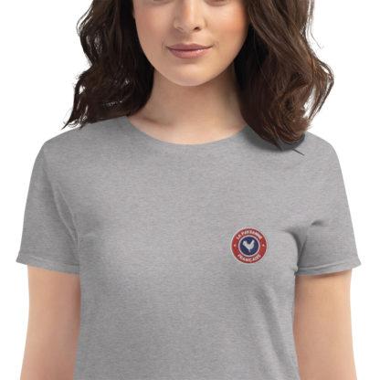 t-shirt agricultrice - la paysanne française - zoom - gris