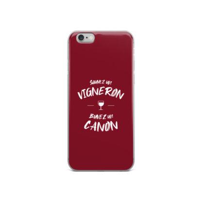 coque iphone - sauvez un vigneron buvez un canon - 9