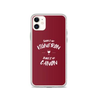 coque iphone - sauvez un vigneron buvez un canon - 13