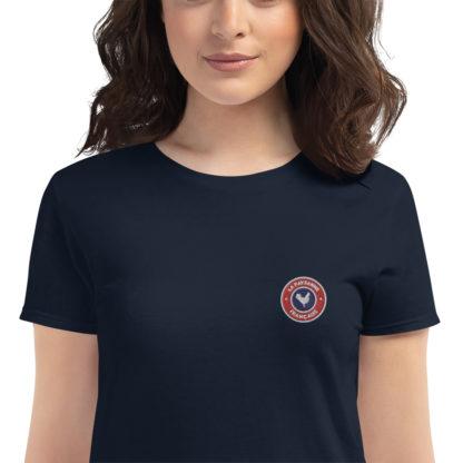 t-shirt agricultrice - la paysanne française - zoom - bleu navy