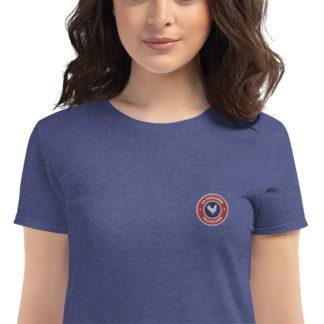 t-shirt agricultrice - la paysanne française - zoom - bleu chiné