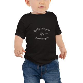 t-shirt bébé quand je serai grand je serai paysan - garçon
