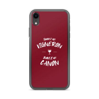 coque iphone - sauvez un vigneron buvez un canon - 4