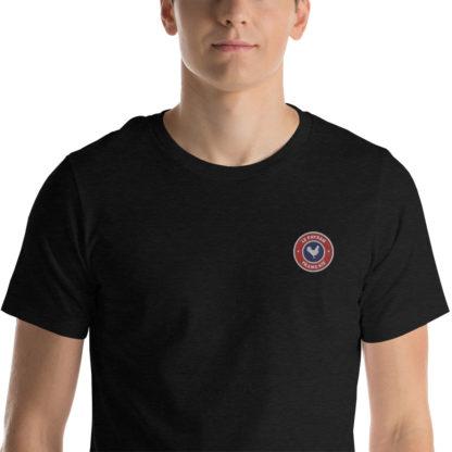 t-shirt agriculteur - le paysan français - zoom - noir chiné