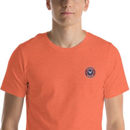 t-shirt agriculteur - le paysan français - zoom - orange