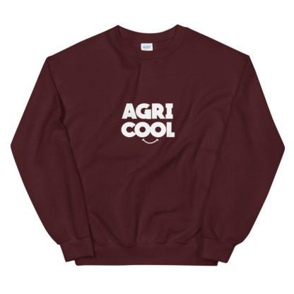 sweat agricool - vêtement agricole - bordeaux