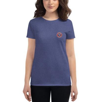 t-shirt agricultrice - la paysanne française - bleu chiné