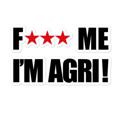 autocollant agricole humour - grand