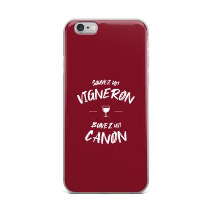 coque iphone - sauvez un vigneron buvez un canon - 10