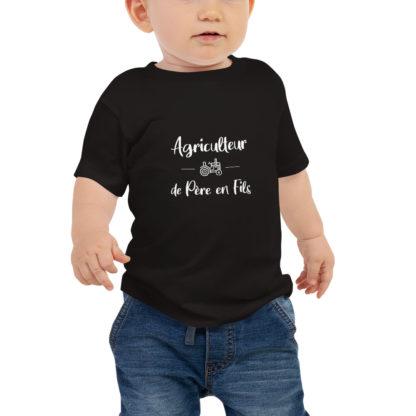 t shirt bébé agriculteur de père en fils