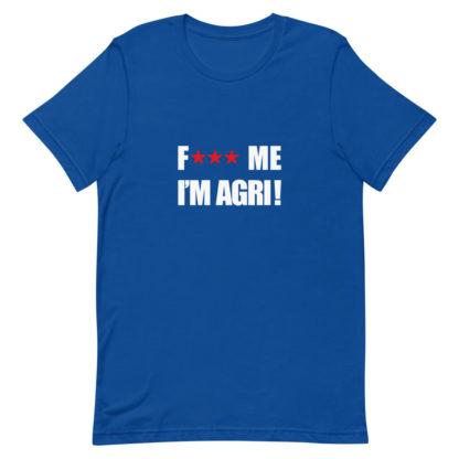 t shirt agricole humour - bleu