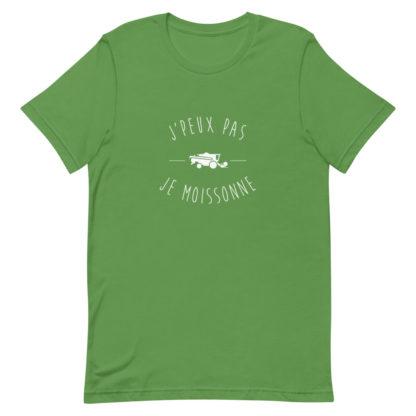 tee shirt agricole - j'peux pas j'ai moisson - vert
