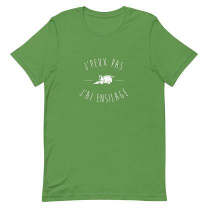 t shirt agriculture - j'peux pas j'ai ensilage - vert
